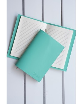 HANDMADE LEATHER PASTEL MINT NOTEBOOK