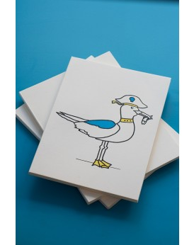 "THE ""SEAGULL"" WHITE MINI NOTEBOOK"